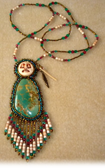Gail Farcello, green turquoise jewelry
